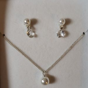 Jewelry - *Brand New*Macys | Pearl/Diamond necklace set